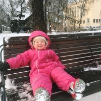 Talvine õueskäik lapsega